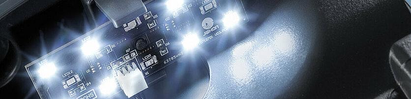 LED-Beleuchtung Hinweis